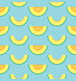 melon slices and polka dots seamless pattern vector image vector image