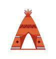 native american indian tipi home with tribal vector image vector image