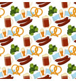 oktoberfest seamless pattern alcohol party vector image