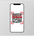 qr code scanning on smart phone screen vector image