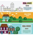 Real estate horizontal banners House cottage vector image