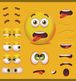 realistic detailed 3d smiley face character vector image vector image