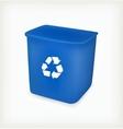 Recycling bin vector image vector image