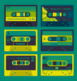 retro audio cassettes set 2 vector image vector image