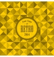 Retro pattern with yellow triangles vector image