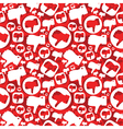 seamless pattern with dislike signs vector image