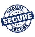 secure blue grunge round vintage rubber stamp vector image vector image