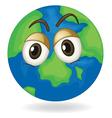 silent earth globe vector image vector image