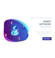 social robotics isometric 3d landing page