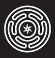 strophalos or hecates wheel emblem vector image vector image