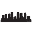 Tampa Florida skyline Detailed silhouette vector image vector image
