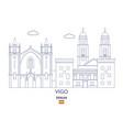 vigo city skyline vector image vector image