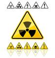 warning symbols yellow signs vector image