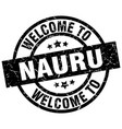welcome to nauru black stamp vector image vector image