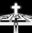 White Cross Stock vector image