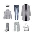 women set in gray color vector image vector image