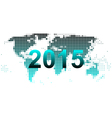 World map 2015 vector image vector image