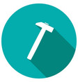 hammer icon with long shadow vector image