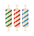Set of sweets icon in flat style vector image