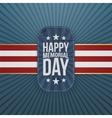 Happy Memorial Day patriotic Badge and Ribbon vector image