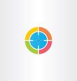 sniper target logo icon vector image