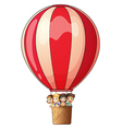 A stripe air balloon vector image vector image