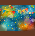 abstract colorful background with confetti and vector image