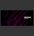 abstract element with dynamic lines vector image vector image
