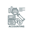 accounting line icon accounting outline vector image vector image