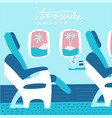 banner with airplane seats in business class and vector image