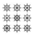 black helms vector image vector image