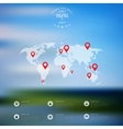 Blurred landscape background Travel concept with vector image vector image
