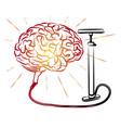 brain and pump pump brains motivator vector image