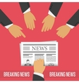 Breaking news concept vector image