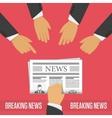 Breaking news concept vector image vector image