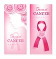 breast cancer awareness card pink ribbon vector image vector image