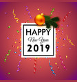 bright happy new year 2019 vector image vector image