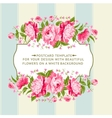 card color flowers vector image vector image