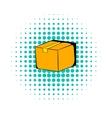 Cardboard box comics icon vector image vector image