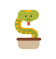 cobra snake coming out of a jug symbol of india vector image