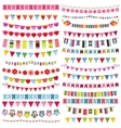 Colorful flags bunting and garland set vector image vector image
