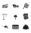 Construction tools icons set simple style vector image