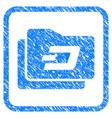 dash purse framed stamp vector image vector image