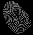 digitalf finger print vector image