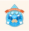 disinfection and cleaning services patch logo vector image