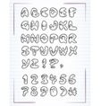 doodle alphabet drawn on the page notebook vector image vector image