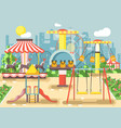 empty amusement park vector image vector image