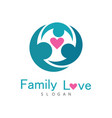 family love logo vector image vector image
