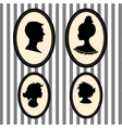 Family portrait silhouettes vector image vector image