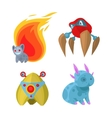 Fantasy monsters set vector image vector image